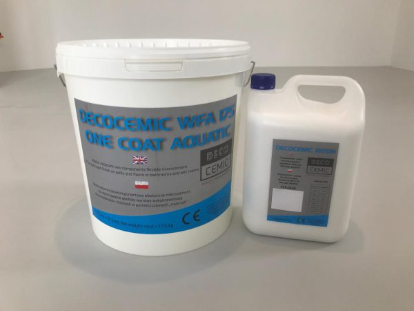 DecoCemic microcement WFA 175 One Coat Aquatic-wodoodporny mikrocement wykończeniowy do warstwy dekoracyjnej 2