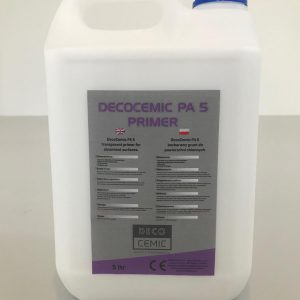 DecoCemic PA 5 microcement Primer-bezbarwny wodny grunt do powierzchni chłonnych