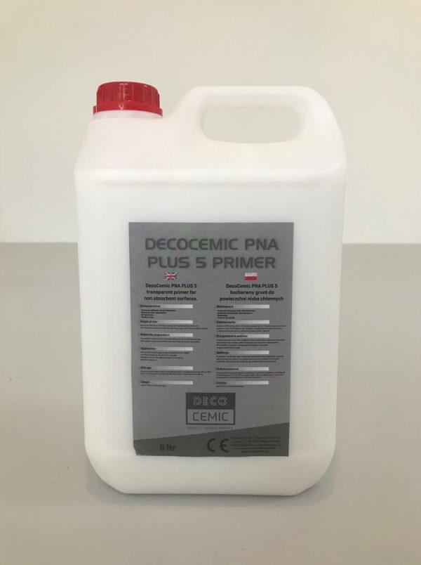 DecoCemic PNA Plus 5 microcement Primer-bezbarwny wodny grunt do powierzchni nisko chłonnych