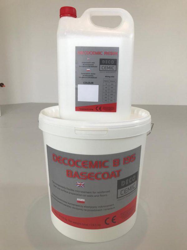 DecoCemic microcement B 195 Basecoat-mikrocement wyrównawczy do warstwy zbrojonej siatką 3