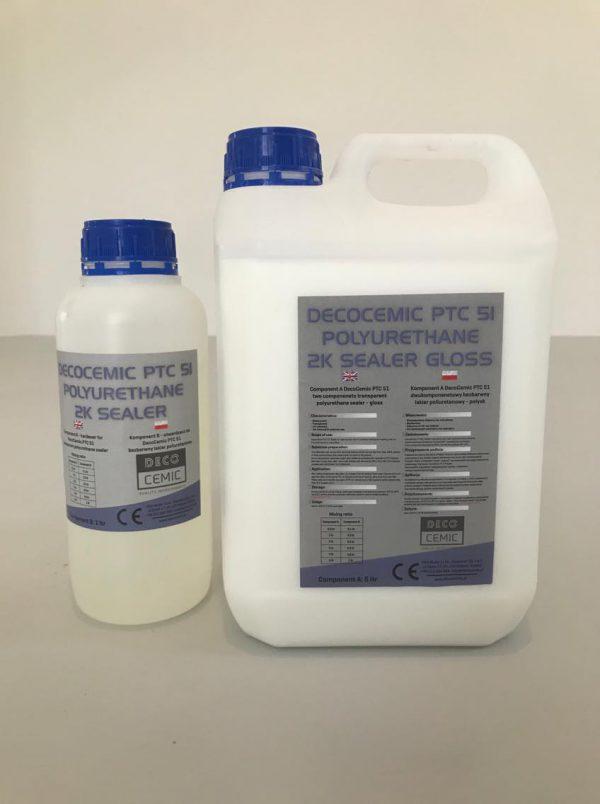 DecoCemic PTC 51 microcement 2K Sealer Gloss-dwuskładnikowy lakier poliuretanowy do mikrocementu połysk